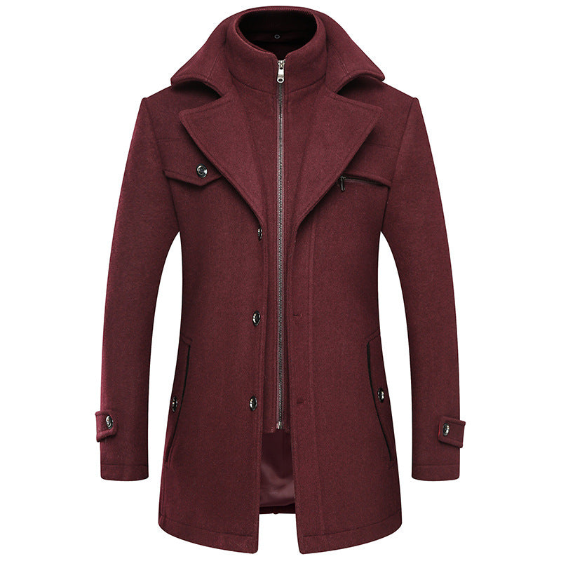 Men's Premium Layer Wool Blend Coat
