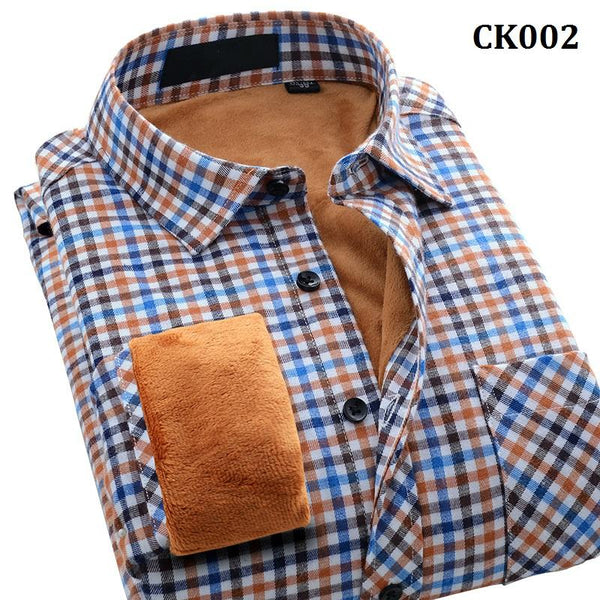 Winter Men's Thicken Dress Shirt