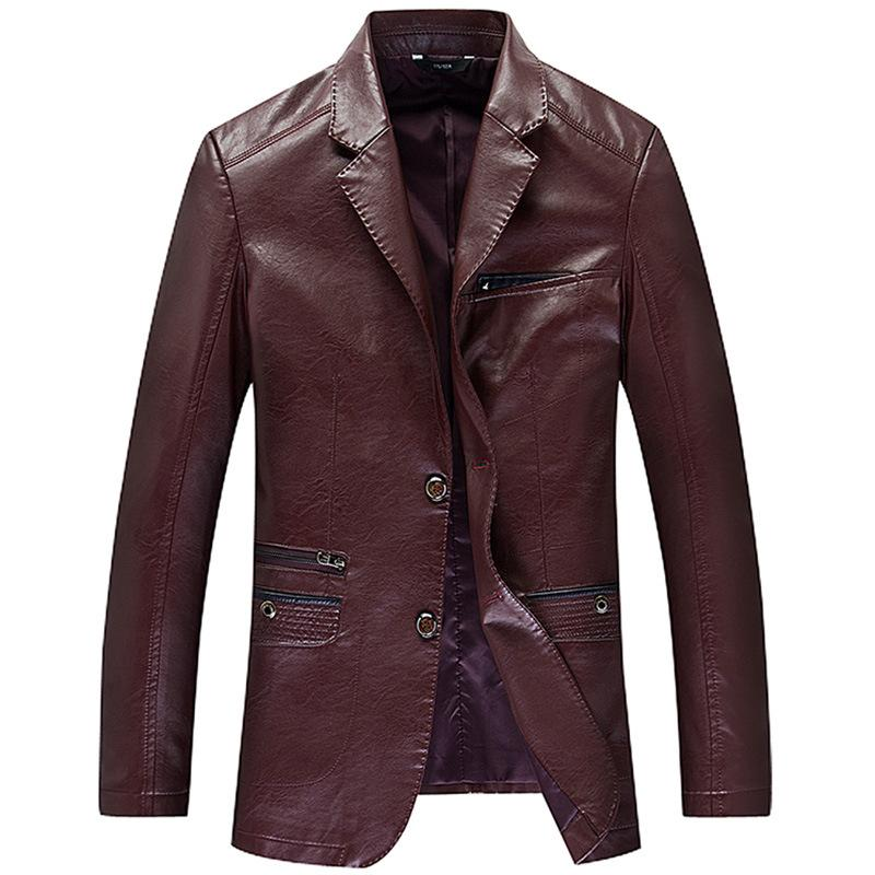 Men's Thin Genuine Leather Jacket