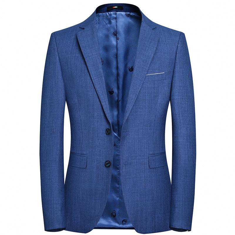 Men's Business Fitted Cotton Blazer