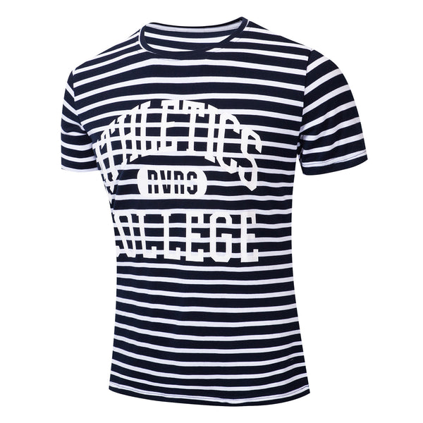 MEN'S 100% COTTON STRIPE PRINTED T-SHIRT #002