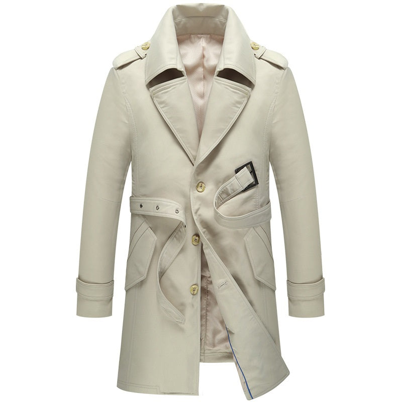 Classic Single-Breasted Trench Coat