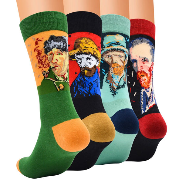 CANVAS Men's Socks,Crew 4 Pairs