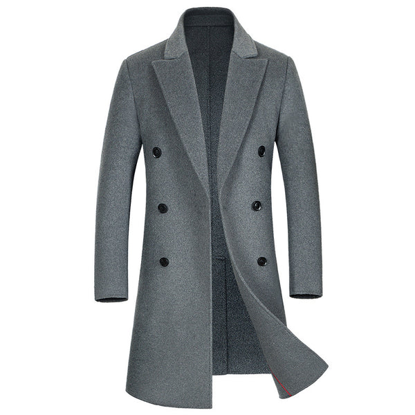 Men's Double-Faced Long Wool Coat