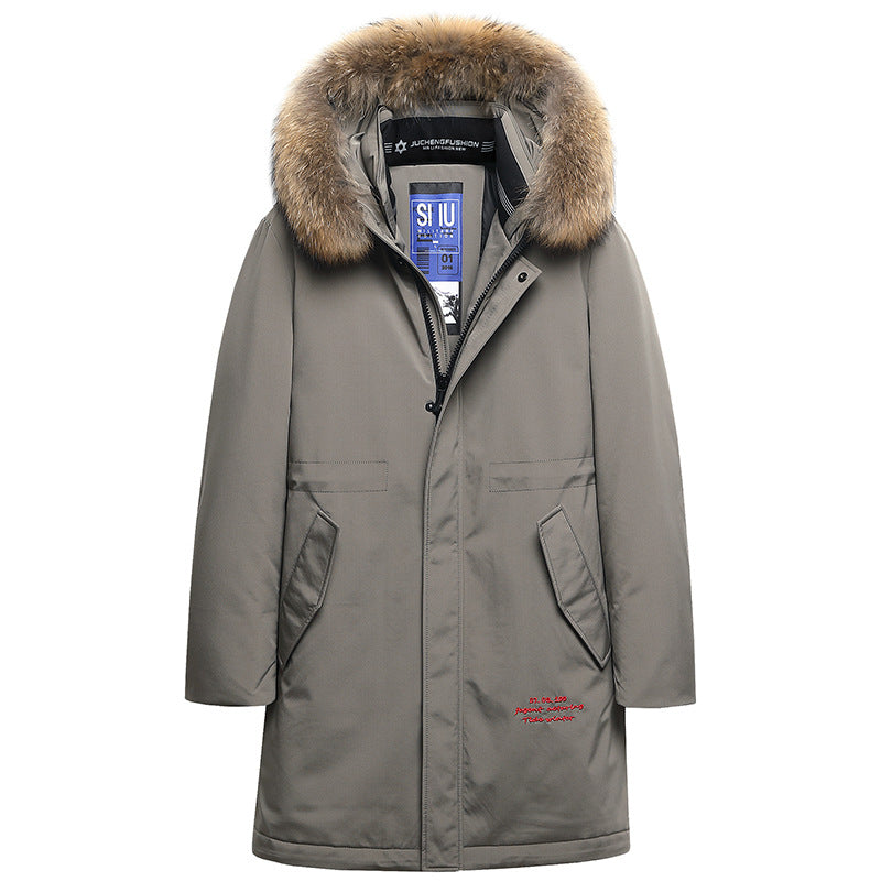 Men's Winter Warm Down Jacket With Fur Hood