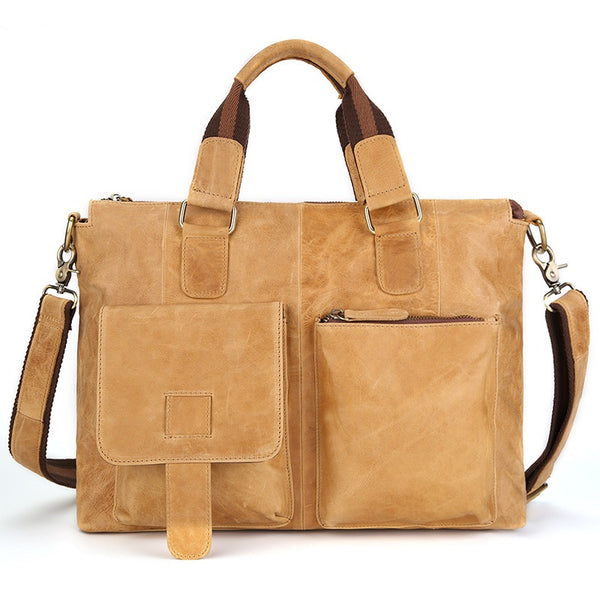 Leather Vintage Rustic Crossbody Messenger Satchel Bag