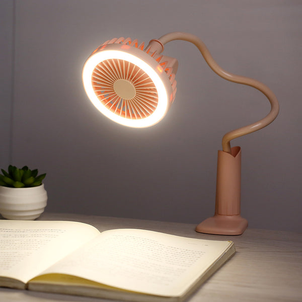 USB Portable Flexible Fan With LED Light