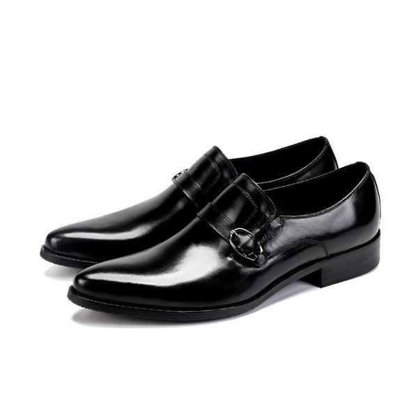 Men's Genuine Leather Strap Loafers