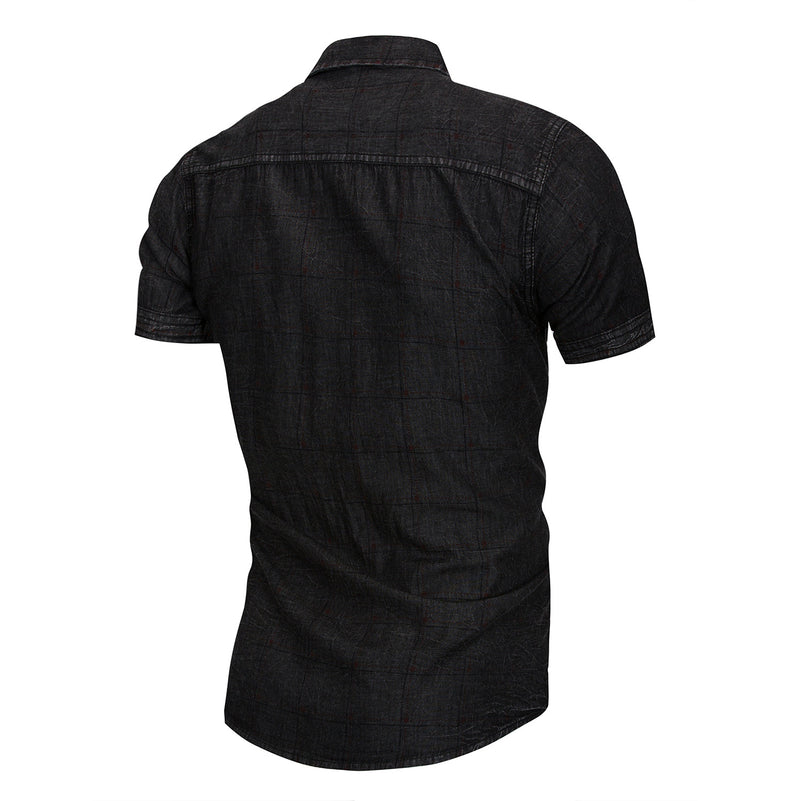 PREMIUM 100% COTTON SHORT SLEEVES Denim SHIRT