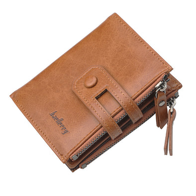 Genuine Leather Short Style Wallets For Men