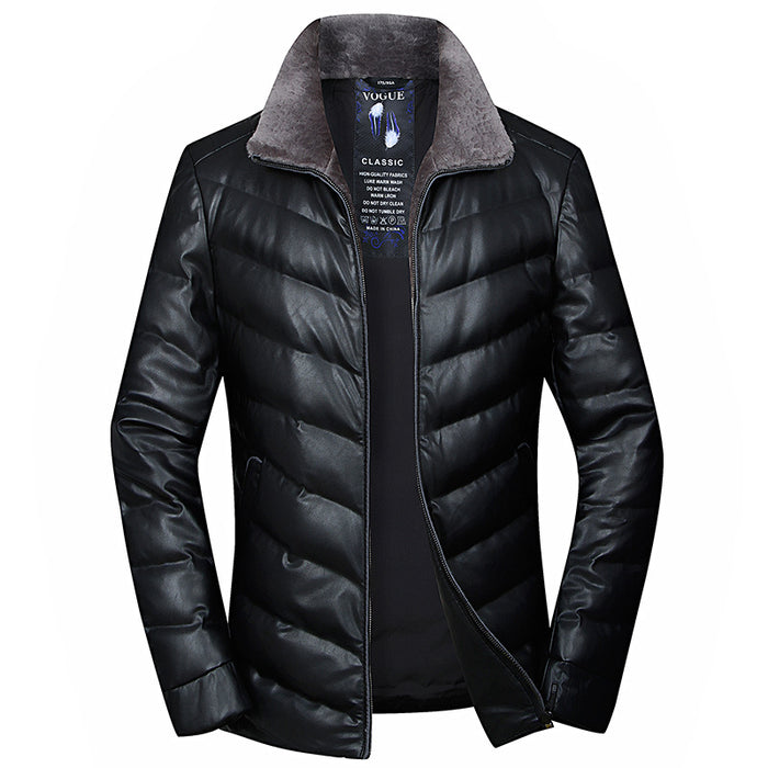 UniteMen Winter Warm Down Jacket with Wool Collar