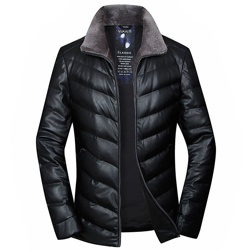 Winter Warm Down Jacket With Wool Collar
