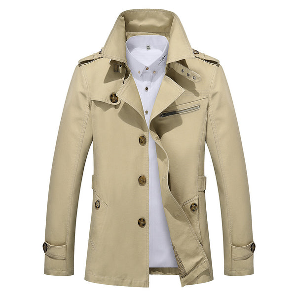 Men's Business Trench Jacket #002