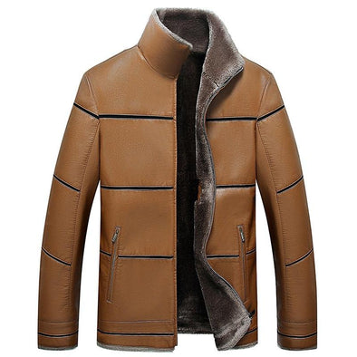 SHEEPMEN™ Excellent Men's Leather Jacket With Fur Lining