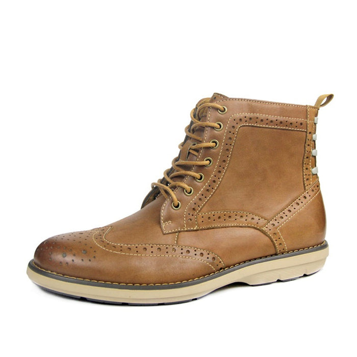 UniteMen Men's Genuine Leather Causal Boots
