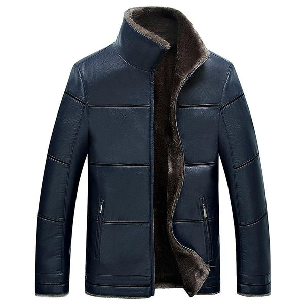 Men's Premium Leather Jacket With Fur Lining