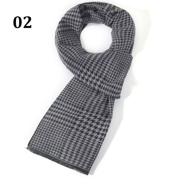 Men's Long Thick Plush Scarf