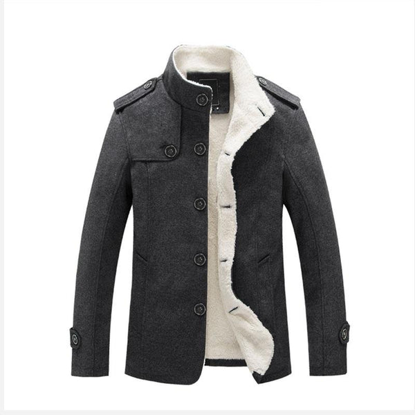Men's Classic Cotton Jacket With Fur Collar