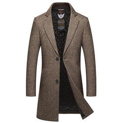 Men's Wool Fitted Coat Khaki