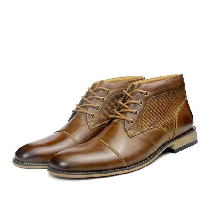 UniteMen Genuine Leather Dress Boots