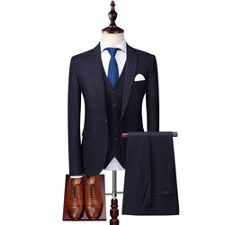 Men's Classic Suits (Jacket+Pants+Vest), #001