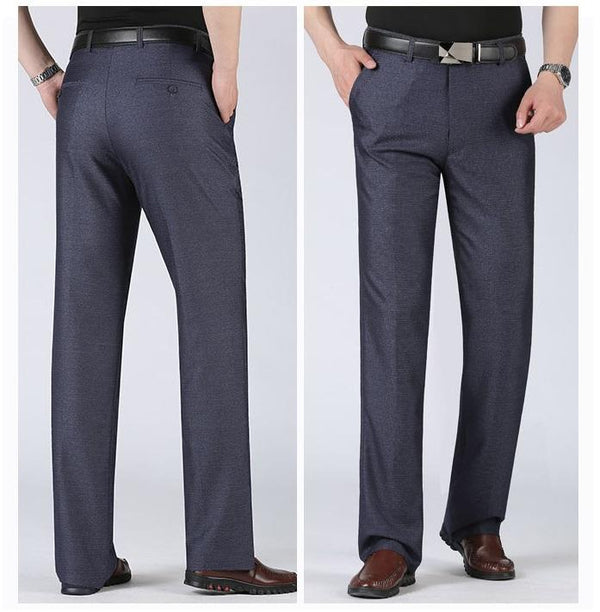 Men's Business Slim Fit Flat Front Thicken Pant With Fur