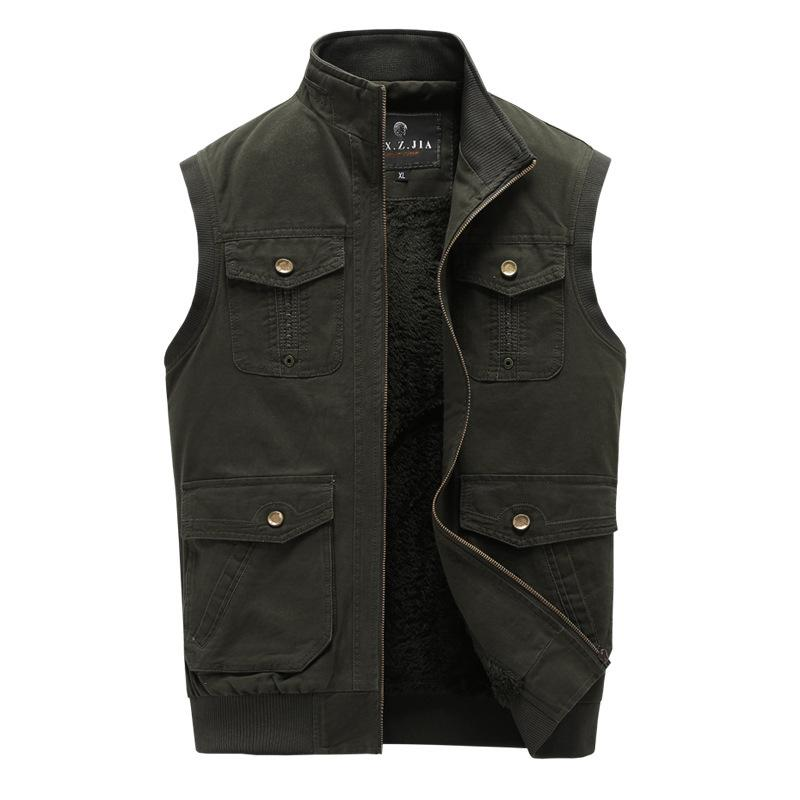 Men's 100% Cotton Vest With Velvet