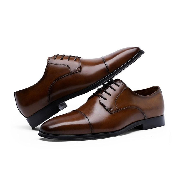 UniteMen Men's Classic Cap Toe Oxford Shoes