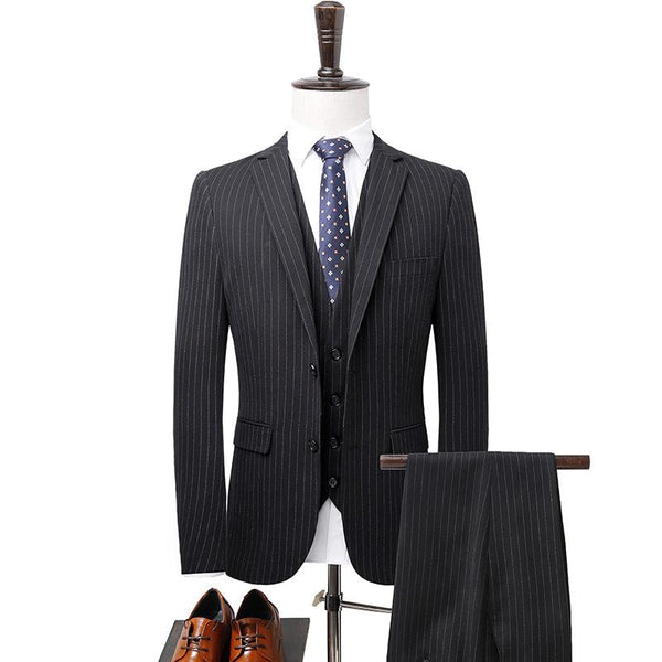 Luxury Stripe Suits (Jacket+Pants+Vest) #003