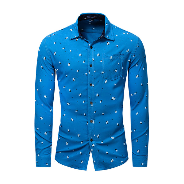 MEN'S CASUAL 100% COTTON PRINTED SHIRT