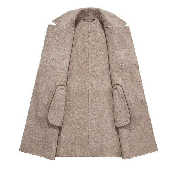 Top Albaca Double-Faced Coat
