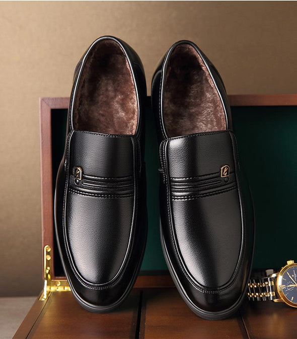 LRT Men's Warm Loafers With Lining Fur