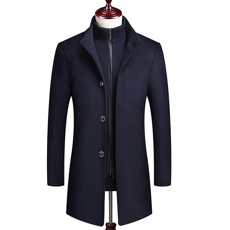 Premium British Double-Layer Wool Pea Coat