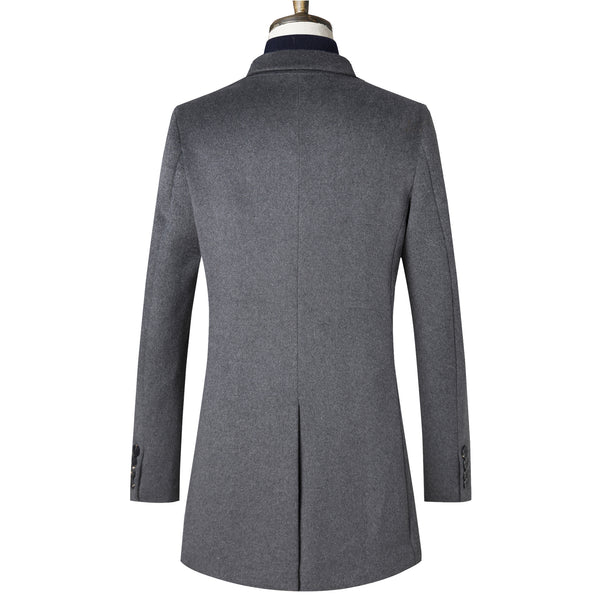 Gentlemen Slim Wool Coat #002