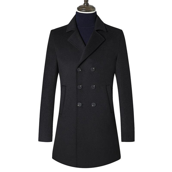 Gentlemen Double Breasted wool coat #003
