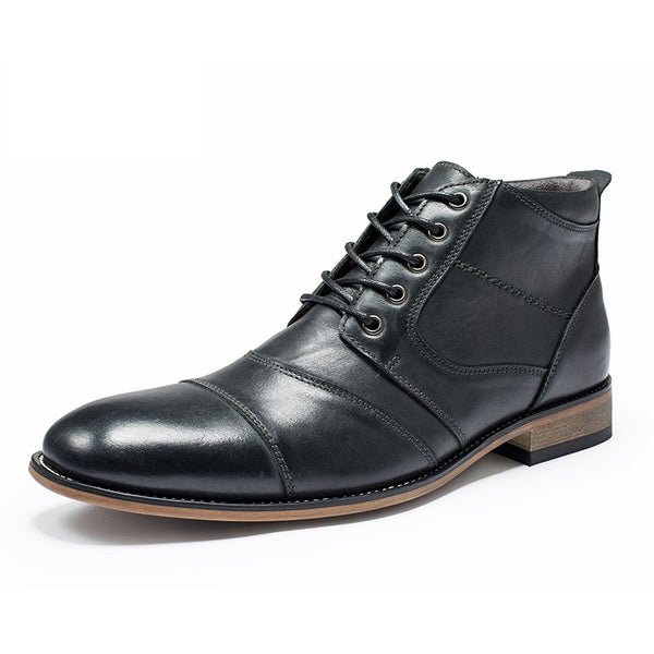 Men's Leather Dress Boots #002