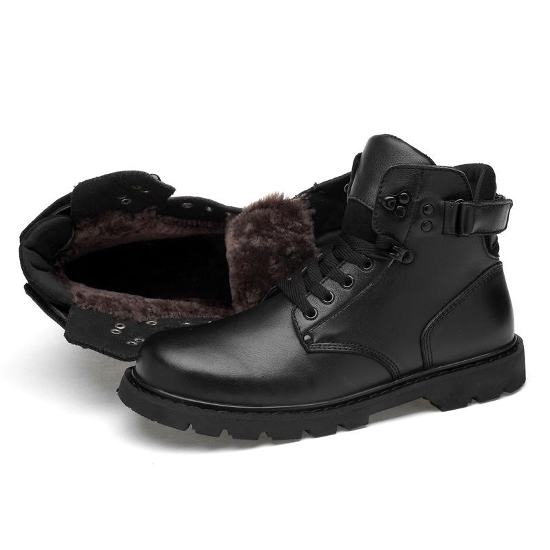 Men's Winter Genuine Leather Snow Boots