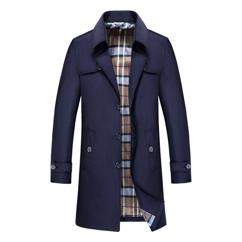 Men's British Premium Business Long Jacket