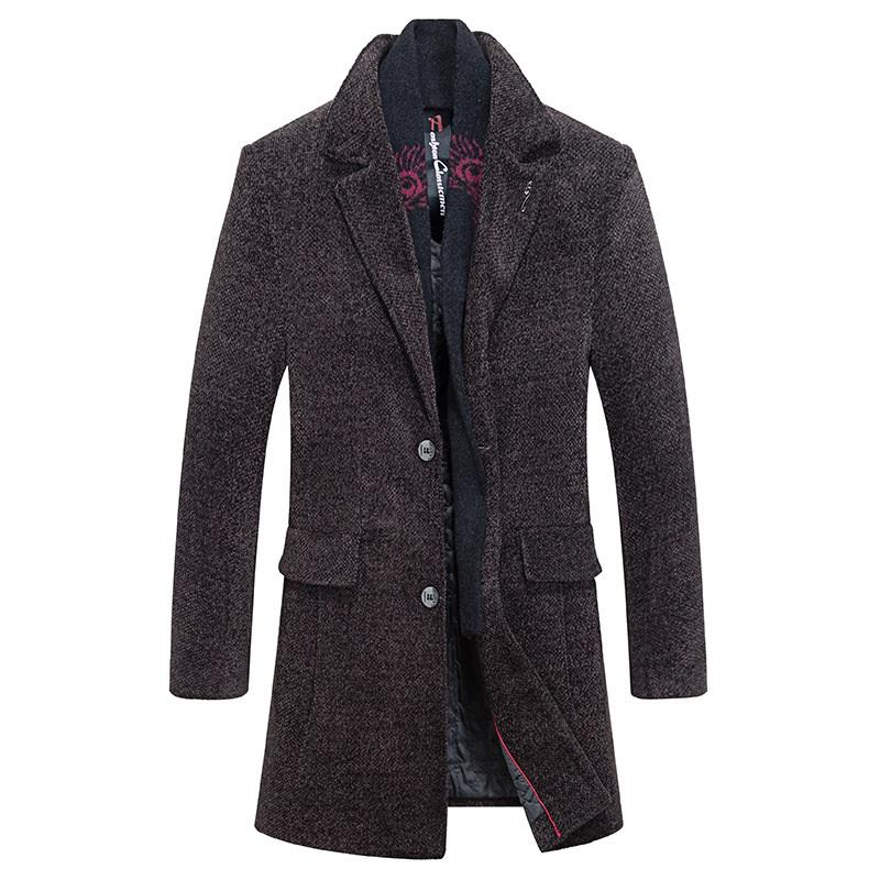Winter Thicken Classic Long Coat With Scarf