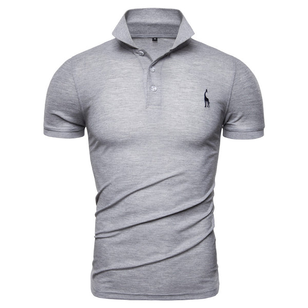 Men Solid Casual 100% Cotton Polo Shirt