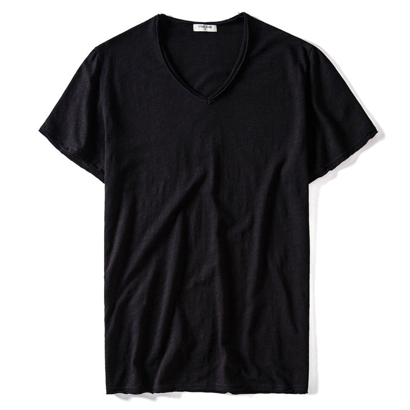 4 Pieces Men's V-neck Slim Fit T-shirts