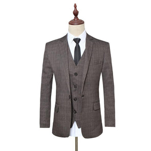 CKESE Men's Luxury Wool Suits (Jacket+Pants+Vest)