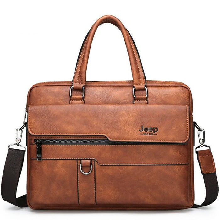 UniteMen Genuine Leather Business Briefcase