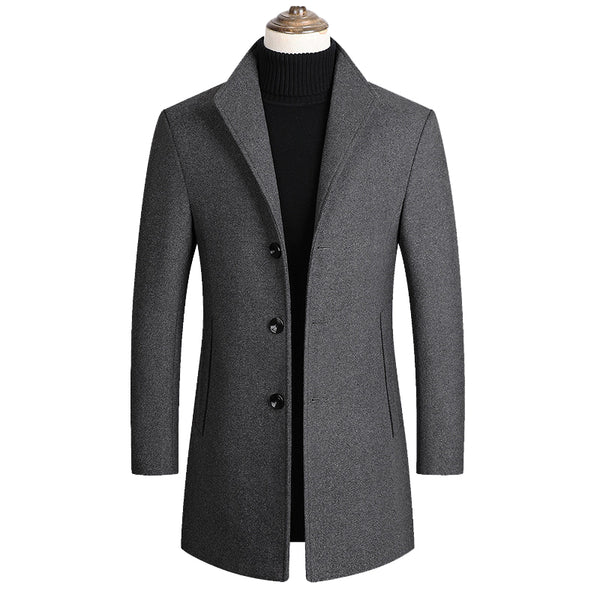 British Gentleman Thick Wool Pea Coat