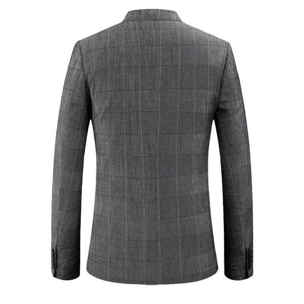 Men's Premium Plaid Fitted Jacket