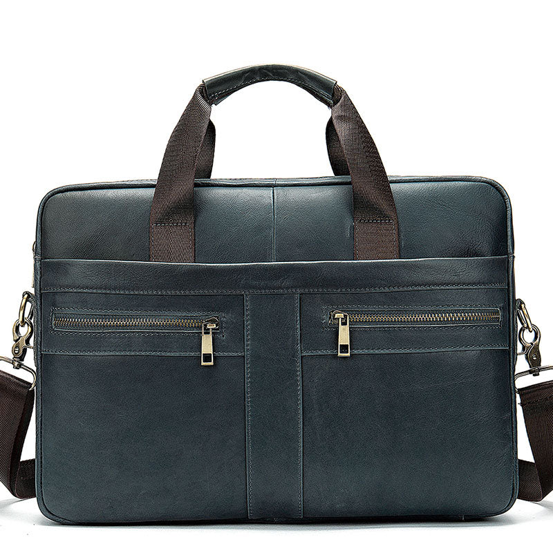 Men's Genuine Leather Business Briefcase