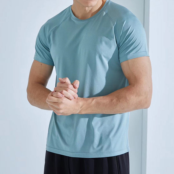 3 Pieces Men's Quick-Drying Mesh Sports T-shirts