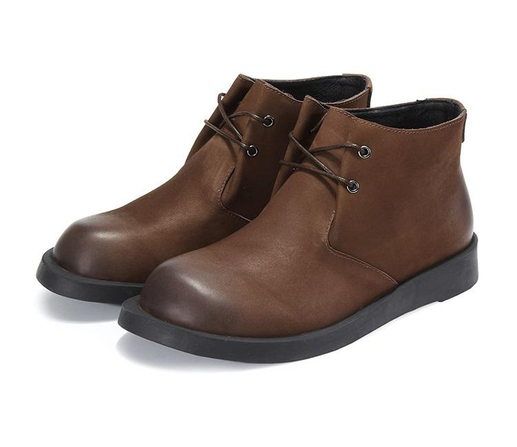Men's Winter Leather Chukka Boots
