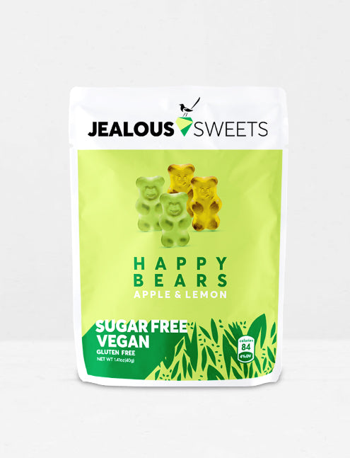 Jealous sweets / Bonbons sans sucre vegan oursons pomme & orange