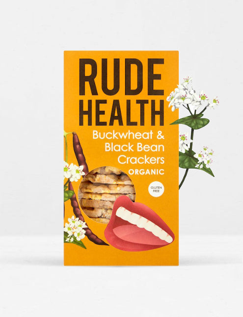 Rude health / Crackers galettes sarrasin & haricots noirs